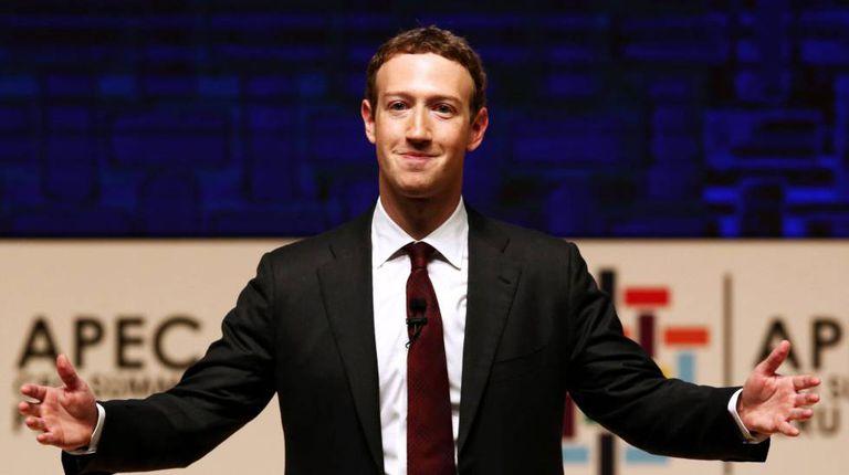 Mark Zuckerberg durante sua visita a Lima.