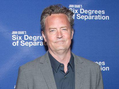 O ator Matthew Perry em abril de 2017, em uma estreia em Nova York.