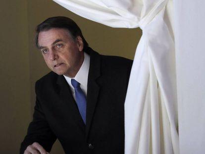 Presidente Jair Bolsonaro, em agenda presidencal em Davos, dias antes da cirurgia