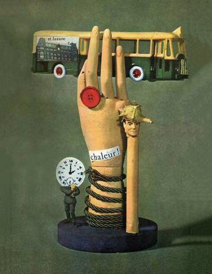 """Colagem de Jacques Carelman para a edição de 1963 de """"Exercícios de estilo"""", de Raymond Queneau."""