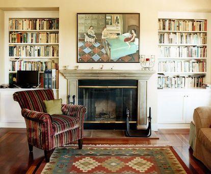 Detalhe da sala de Jonathan Franzen em Santa Cruz.
