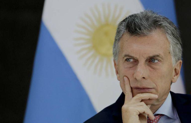 O presidente Mauricio Macri, durante uma reunião com governadores em Casa Rosada, o 31 de maio passado.