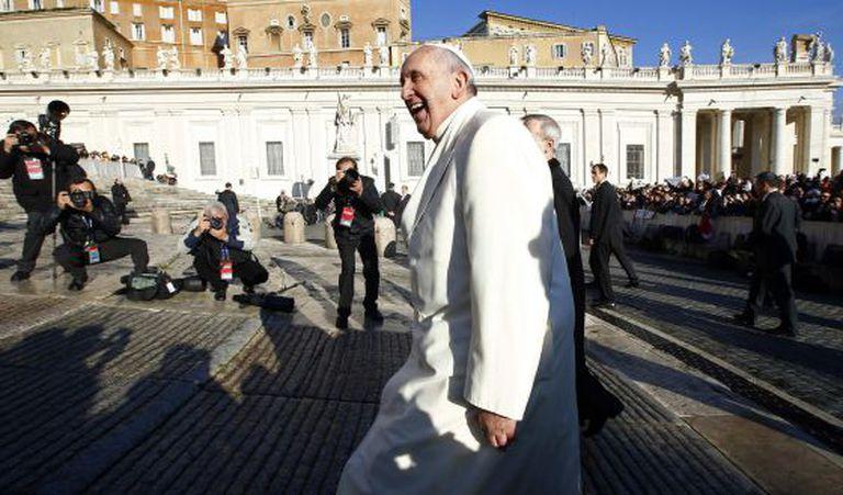 O papa Francisco chega ao Vaticano o 17 de dezembro, quando cumpria 78 anos.