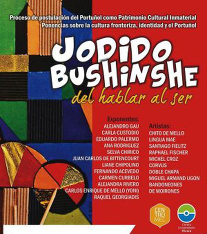 """Cartaz do ciclo de conferências """"Jodido Bushinshe. Do falar ao ser"""""""