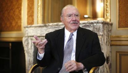 Sarney, em entrevista na Casa América, em Madri.