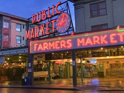 Pike Public Market, no bairro mais badalado de Seattle (EUA).