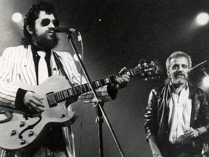 Raul Seixas e Paulo Coelho em show no Canecão, em 1970.