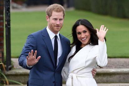 Príncipe Harry e Meghan Markle, no dia do noivado em novembro de 2017.