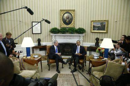 Barack Obama recebeu por última vez a Benjamín Netanyahu em setembro de 2013.