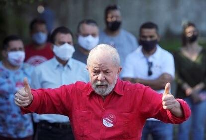 O ex-presidente Lula no ano passado, no dia de votação das eleições municipais.