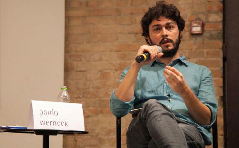 Paulo Werneck, curador da Flip, durante a coletiva de imprensa do evento.