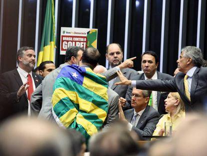 Votação do pedido de impeachment da presidenta Dilma Rousseff, na Câmara dos Deputados, em maio