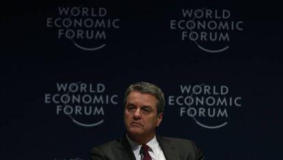 Roberto Azevedo, diretor-geral da OMC, na reunião em São Paulo.