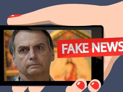 Cinco 'fake news' que beneficiaram a candidatura de Bolsonaro
