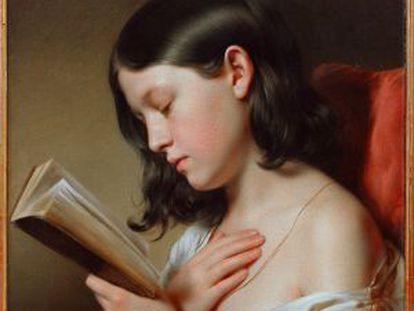'Menina lendo' (1850) de Franz Eybl.