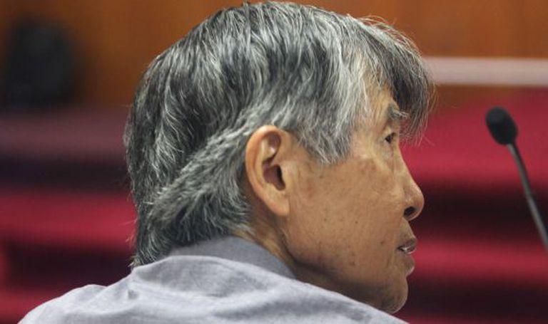 Fujimori, em um julgamento por suposta cooptação de jornais em janeiro.