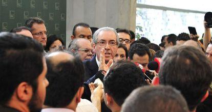 Cunha anuncia o rompimento com o Governo.