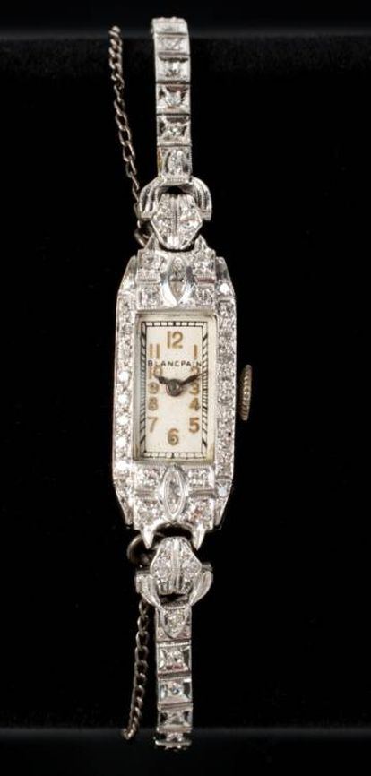 Relógio de pulso Blancpain de Marilyn Monroe, que vai a leilão.
