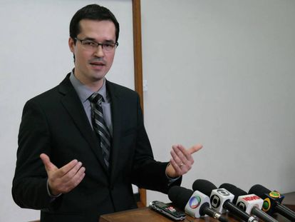 O procurador Deltan Dallagnol enquanto ainda era coordenador da força-tarefa da Operação Lava Jato.