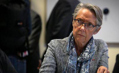 A ministra Elisabeth Borne em 27 de setembro.