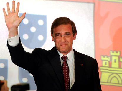 El candidato del partido conservador, Pedro Passos