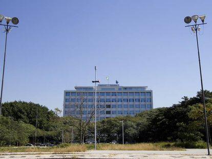 Vista do prédio da Reitoria da USP a partir da Praça do Relógio.