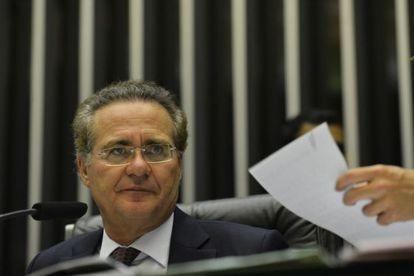O presidente do Senado, Renan Calheiros, durante a votação.
