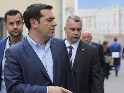 Alexis Tsipras, nesta quinta-feira em São Petersburgo.