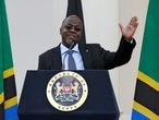 FILE PHOTO: Tanzania's President John Magufuli addresses a news conference during his official visit to Nairobi, Kenya October 31, 2016. REUTERS/Thomas Mukoya/File Photo