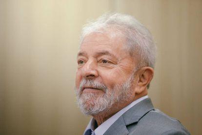 O ex-presidente Lula, durante a entrevista desta sexta-feira, na superintendência da PF em Curitiba.