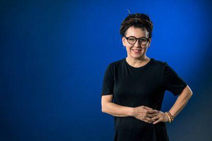 Olga Tokarczuk, no festival internacional do livro de Edimburgo, em agosto de 2017.