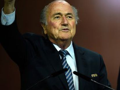 Joseph Blatter, na sexta-feira no congresso da FIFA.