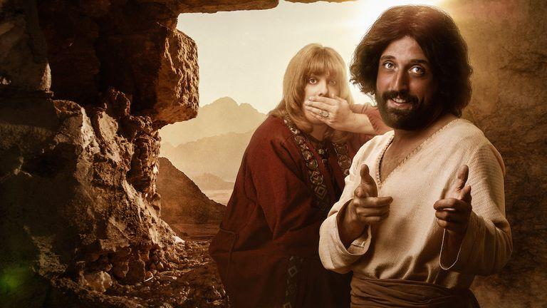 Porchat e Duvivier no especial do Porta dos Fundos para a Netflix.