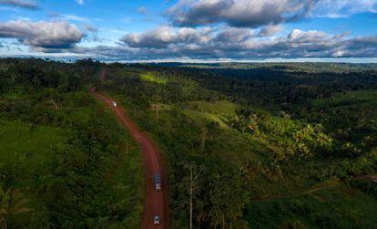Vista aérea da Transamazônica.