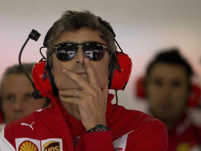 Marco Mattiacci, no box da Ferrari.