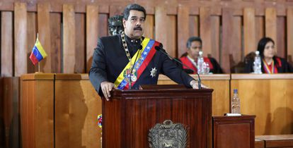 Nicolás Maduro, na Suprema Corte venezuelana no dia 7 de fevereiro.