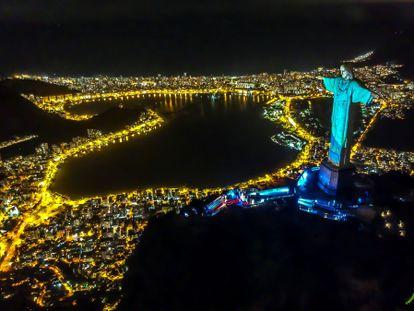 Orla do Rio de Janeiro vista a partir do Cristo Redentor.
