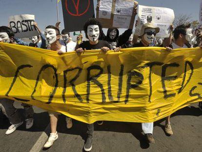 Marcha contra a corrupção em Brasília, em 2011.