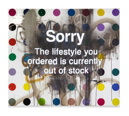 'Sorry The Lifestyle You Ordered Is Currently Out of Stock' de Damien Hirst e Banksy