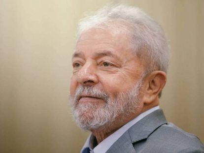 O ex-presidente Lula, durante entrevista ao EL PAÍS.