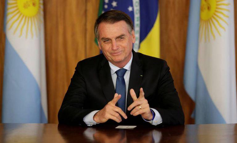Jair Bolsonaro durante encontro com Macri.