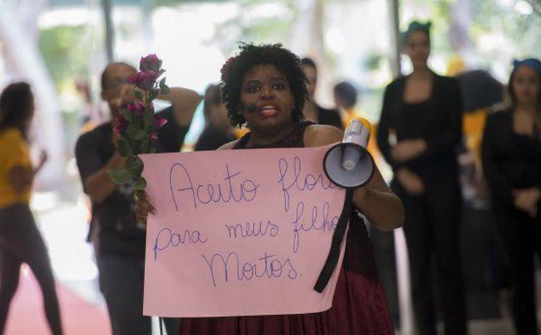 Protesto contra o racismo em Brasília,
