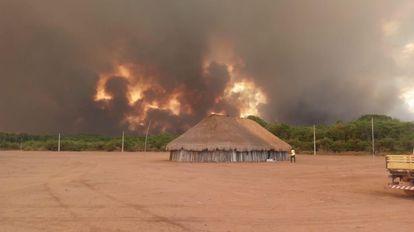 Aldeia Mayene, no Xingu, sofre com incêndios do Pantanal.