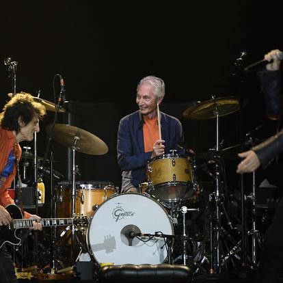 DENVER, CO - AUGUST 10: Charlie Watts the Rolling Stones performing at Mile High Stadium August 10, 2019 in Denver, Colorado. (Photo by Joe Amon/MediaNews Group/The Denver Post via Getty Images)