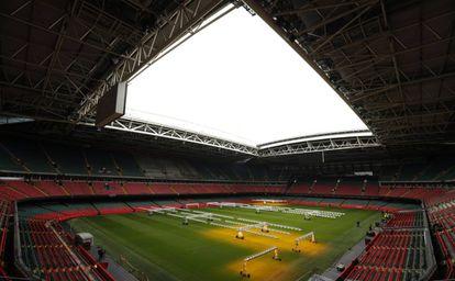 Cardiff Stadium, onde será disputada a final da Champions.