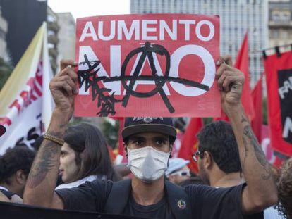 Primeiro ato do MPL deste ano em São Paulo.