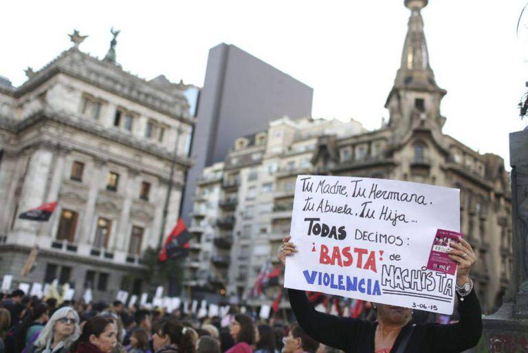 A marcha Nem Uma a Menos, em 3 de junho de 2015.