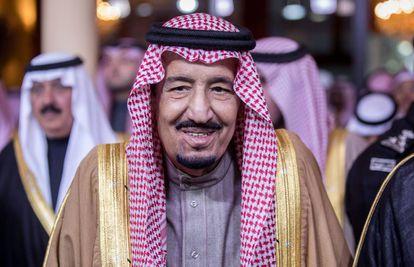O rei Salman bin Abdulaziz em Riad, em fevereiro deste ano.