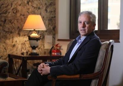 Álvaro García Linera, ex-vice-presidente do Governo da Bolívia, durante a entrevista em Madri.