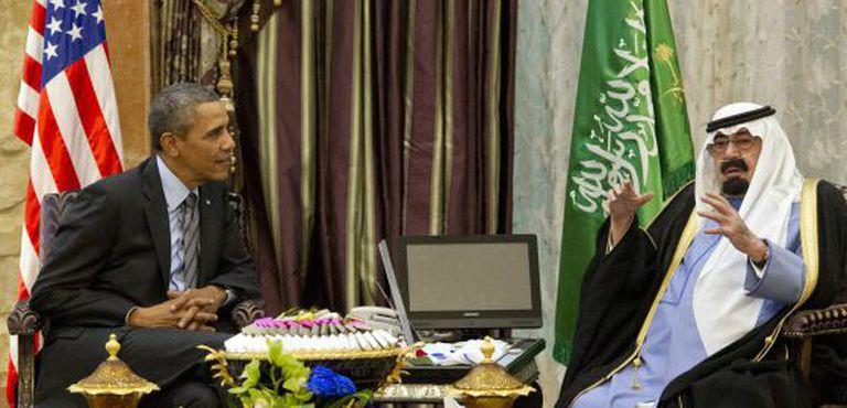 O presidente Barack Obama e o rei Abdalá.
